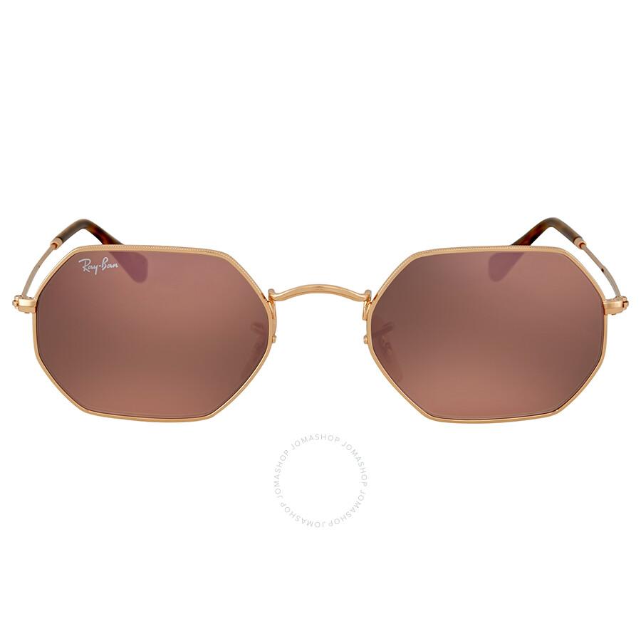 aa8645acb6 Ray Ban Octagonal Copper Flash Metal Sunglasses - Ray-Ban - Sunglasses -  Jomashop