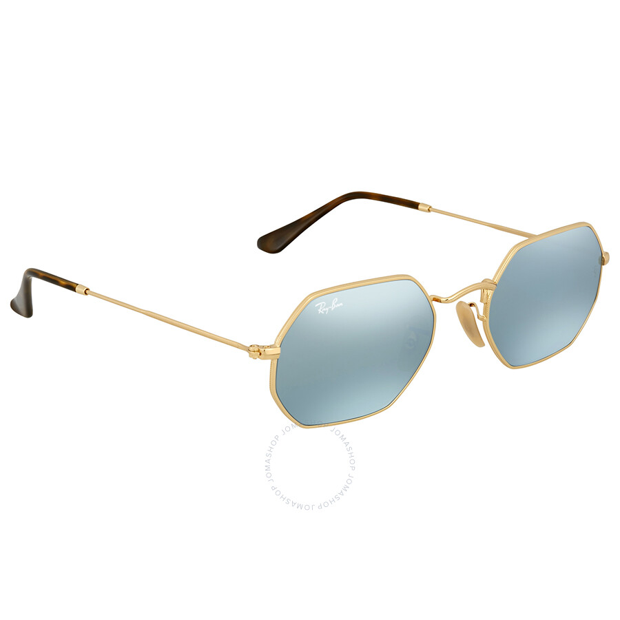 dba136ea03 Ray Ban Octagonal Flat Silver Flash Sunglasses - Ray-Ban ...