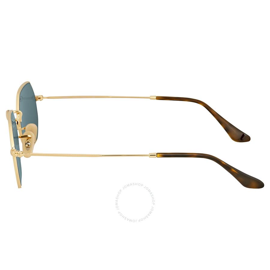 00311c0590c ... Ray Ban Octagonal Flat Silver Flash Sunglasses