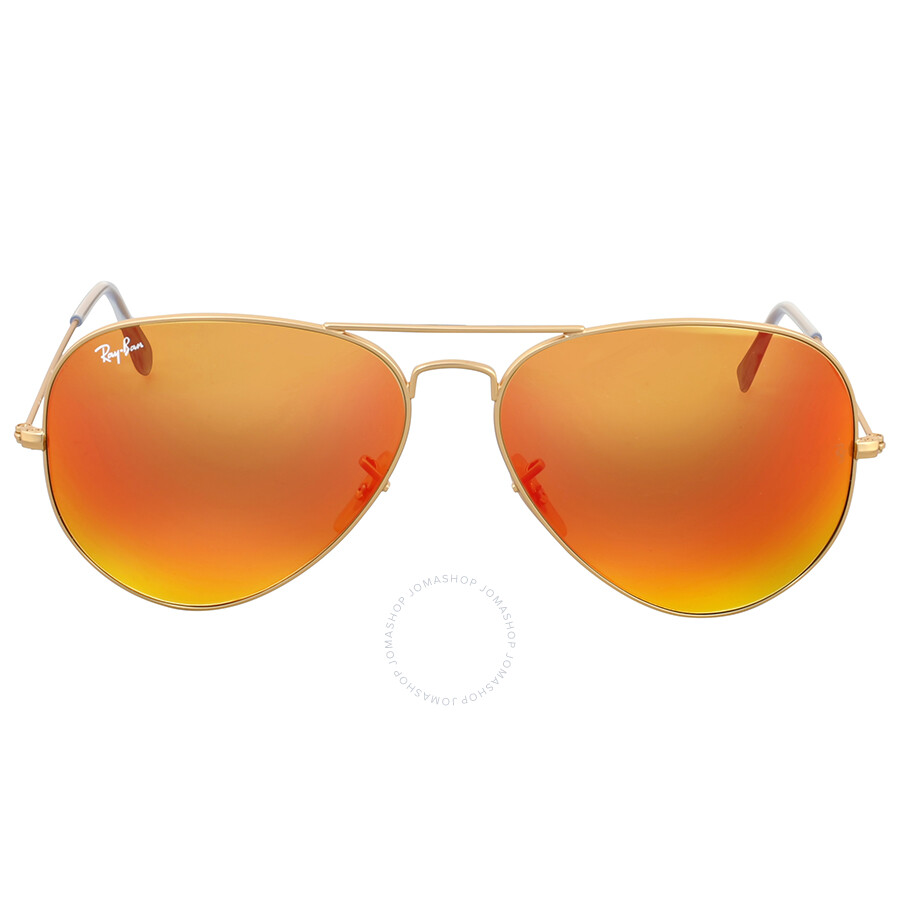 8046e959f5 Ray Ban Orange Flash Aviator Sunglasses Item No. RB3025 112 69 62
