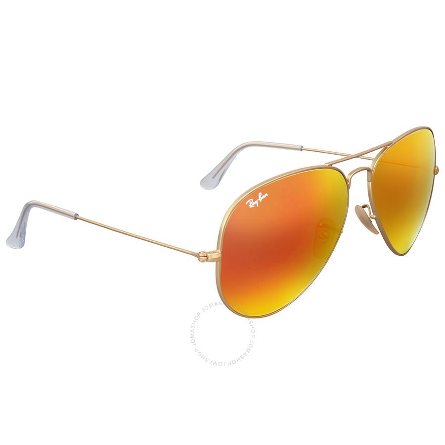 ray ban orange flash aviator sunglasses