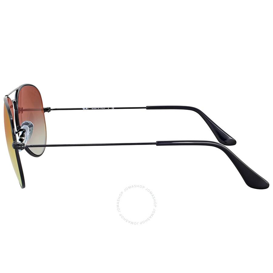 4ee2caa5224 Ray Ban Orange Gradient Flash Metal Aviator Sunglasses - Aviator ...