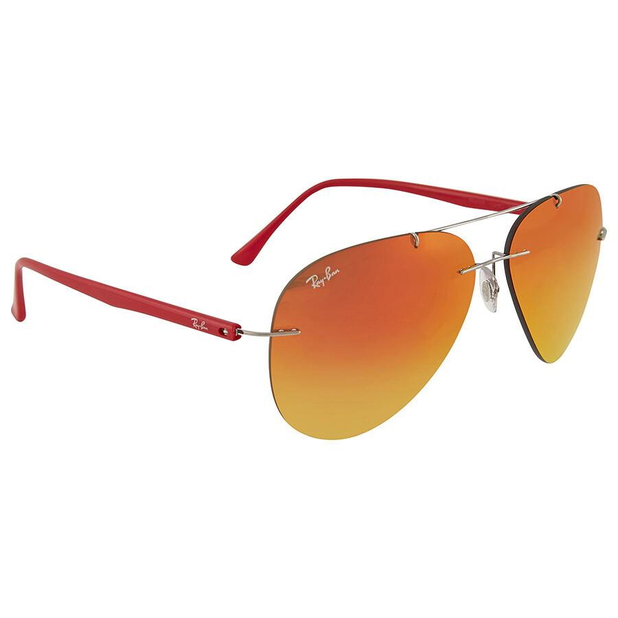 Ray Ban Orange Mirror Aviator Sunglasses - Sunglasses