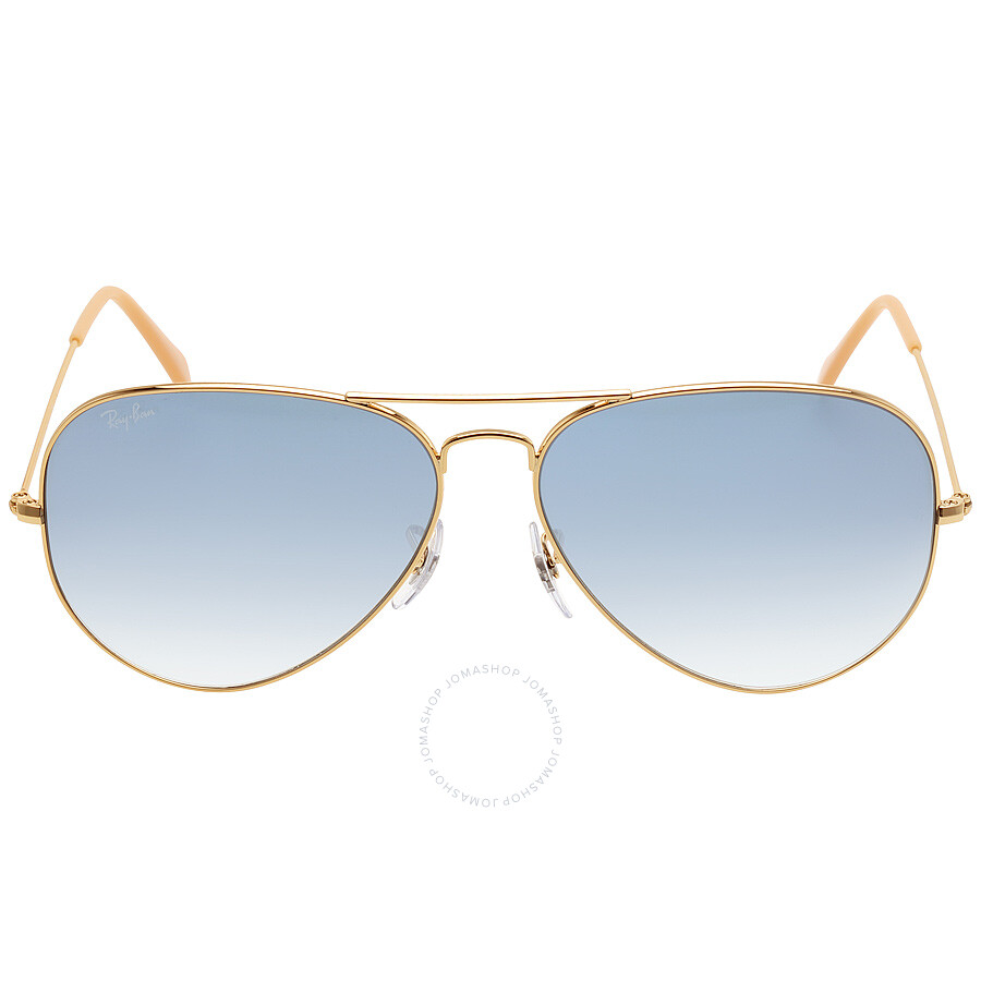 564a4f7f74 Ray Ban Original Aviator Blue Gradient Sunglasses RB3025 001 3F 62 ...
