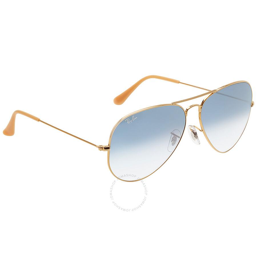ray ban original aviator blue gradient sunglasses rb3025. Black Bedroom Furniture Sets. Home Design Ideas