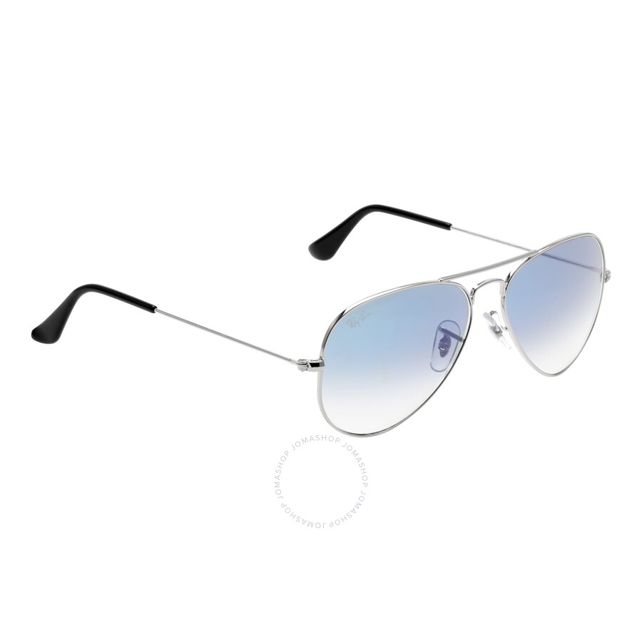 ddf207f53d ... Ray Ban Original Aviator Blue Gradient Sunglasses RB3025-0033F-55