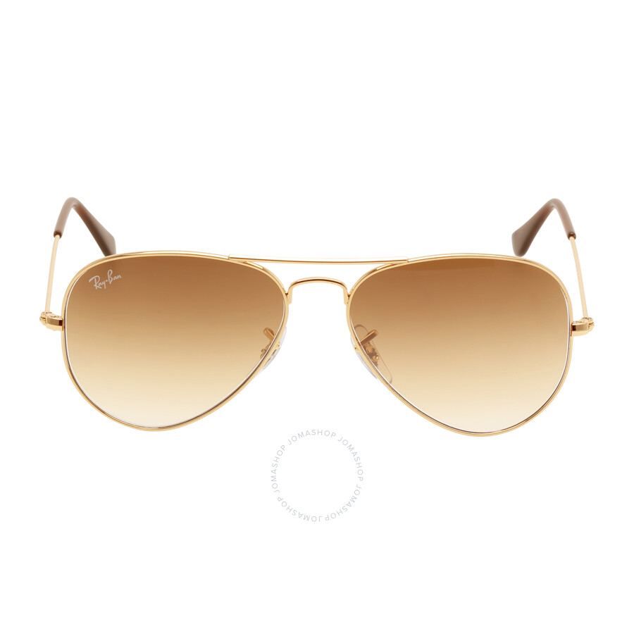 8ef84cda1d6ed Ray Ban Original Aviator Light Brown Gradient Sunglasses RB3025 001 51 55  ...