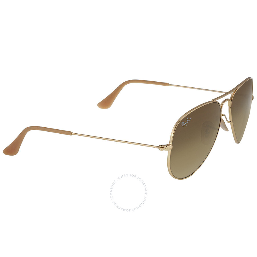 d9a41d5642 ... Ray Ban Original Aviator Matte Gold Brown Gradient Sunglasses RB3025 -11285-55 ...
