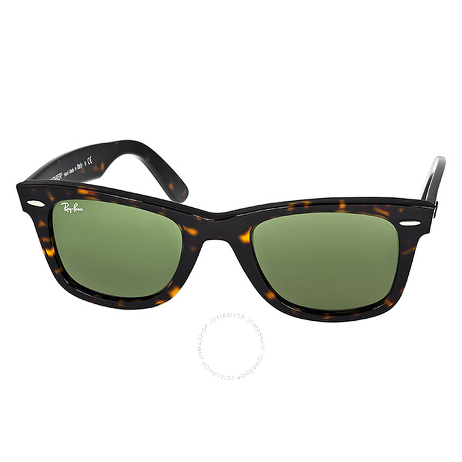 f7b8ecba1f7 Ray Ban Original Wayfarer Classic Green Classic G-15 Men s Sunglasses  RB2140 902 50- ...