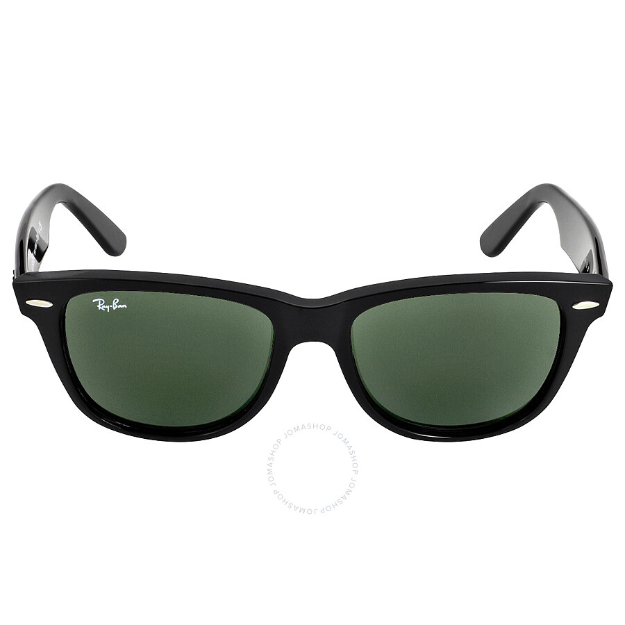 8c02ab6d88 Ray Ban Original Wayfarer Classics Black Green Classic G-15 Sunglasses  RB2140901-54 Item No. RB2140 901 54-18