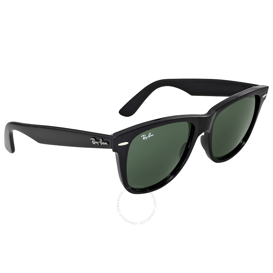 b6656d81802 ... Ray Ban Original Wayfarer Classics Black Green Classic G-15 Sunglasses  RB2140901-54 ...