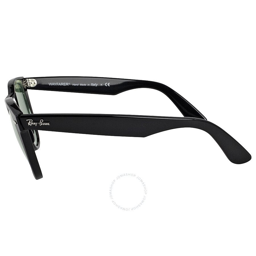 ... Ray Ban Original Wayfarer Classics Black Green Classic G-15 Sunglasses  RB2140901-54 ...