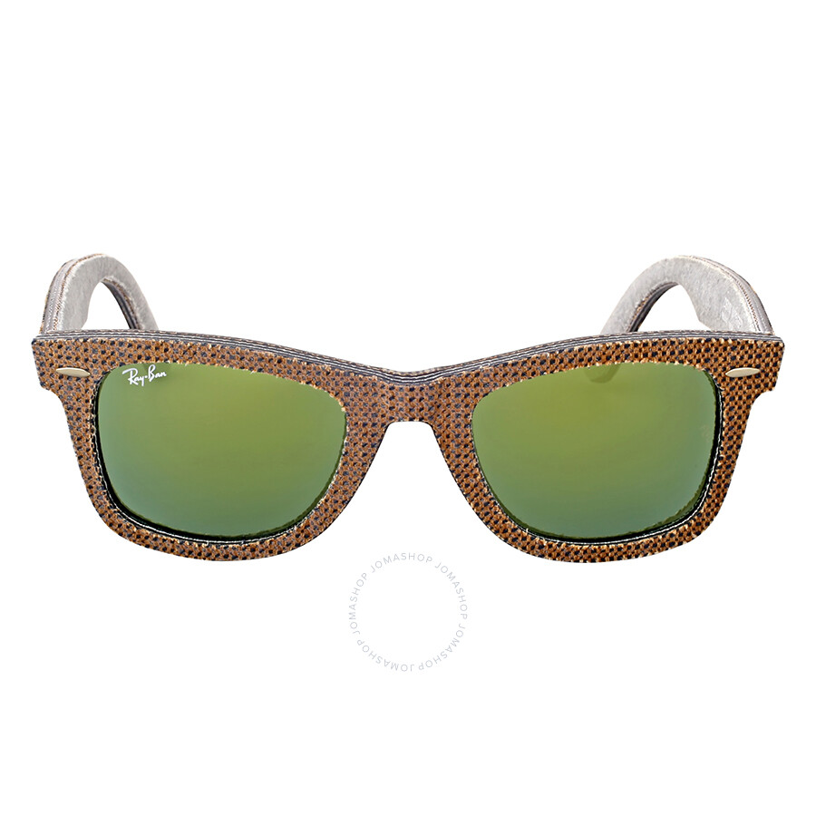ray ban green wayfarer  Ray-Ban Original Wayfarer Denim Green Mirror Sunglasses RB2140 ...