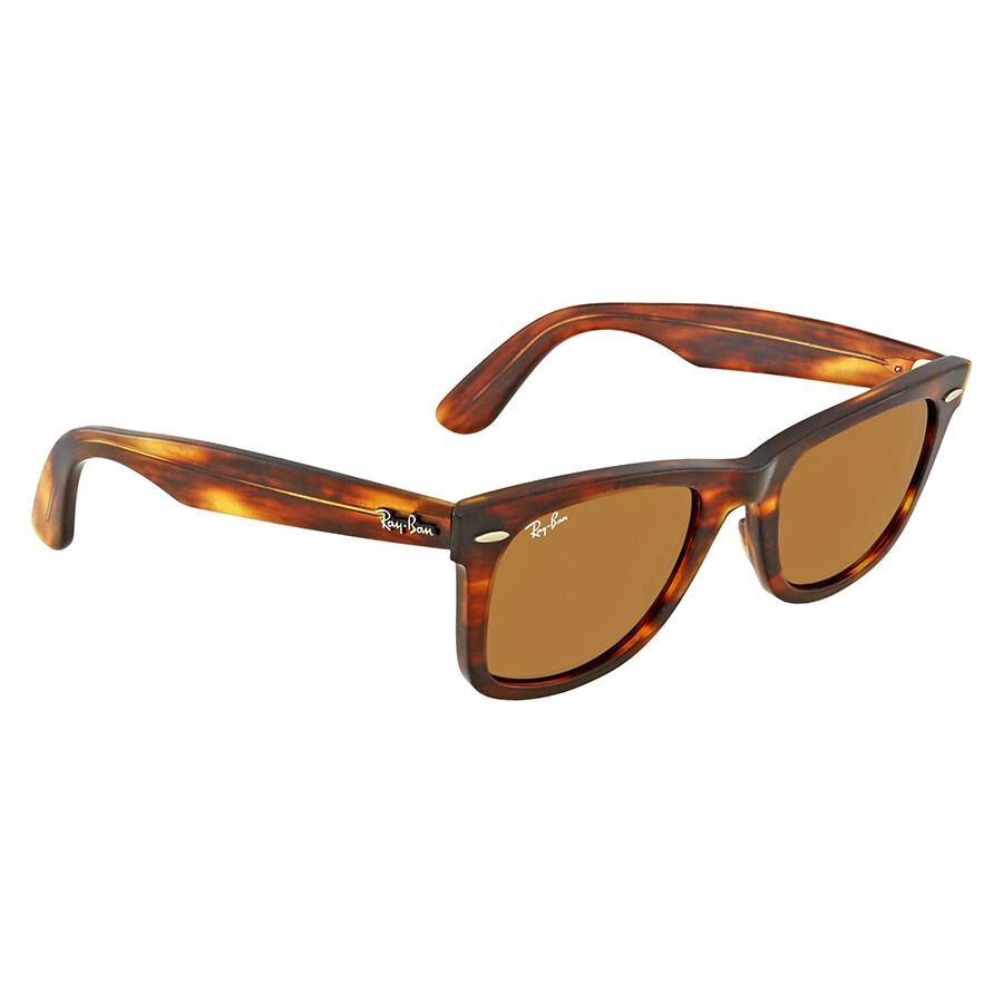 1215f00bbd Ray Ban Original Wayfarer Distressed Brown Classic B-15 Sunglasses RB2140  1186 50 ...