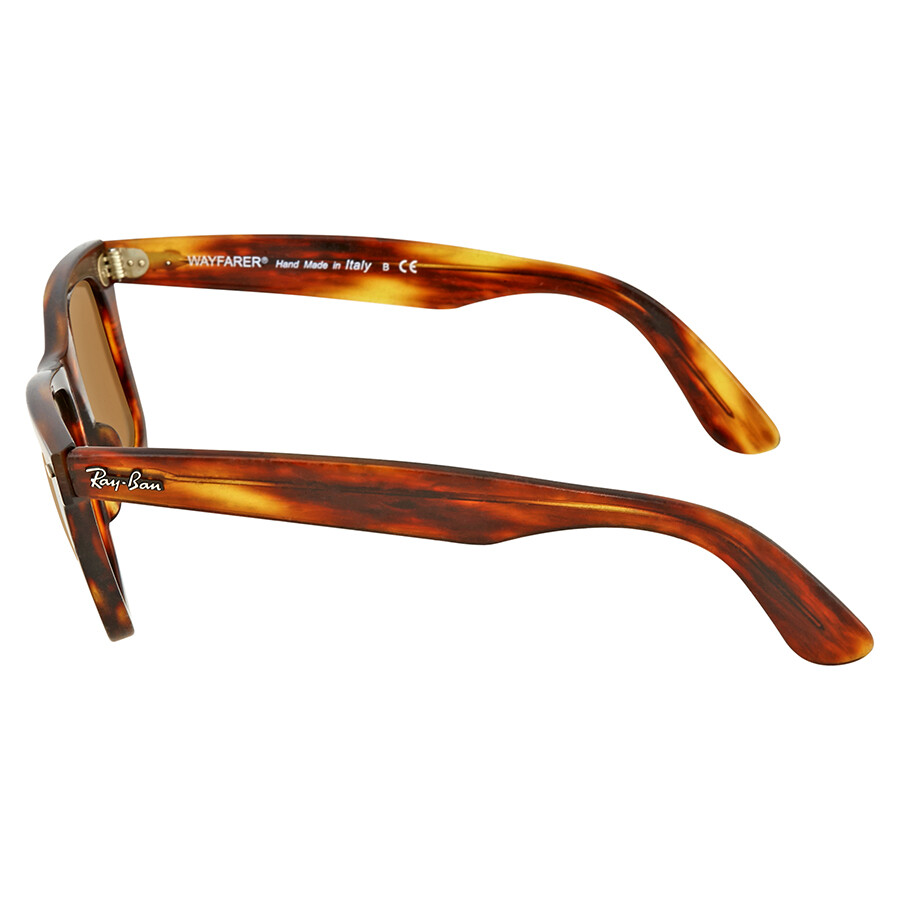 3bf0f49c0f ... Ray Ban Original Wayfarer Distressed Brown Classic B-15 Sunglasses  RB2140 1186 50