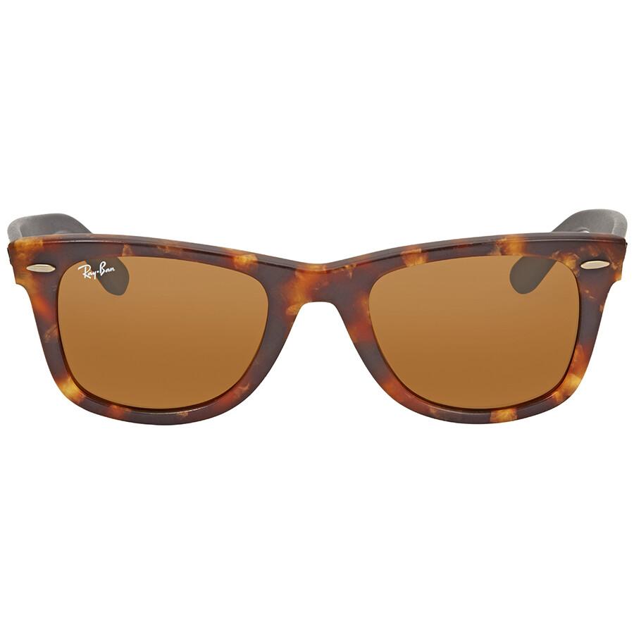 a39559c6941 Ray Ban Original Wayfarer Distressed Brown Classic B-15 Wayfarer Sunglasses  RB2140 1187 50 ...
