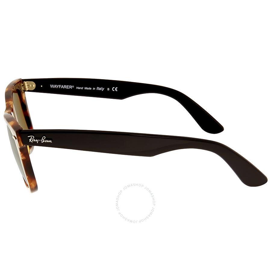 6c3c2e5d2dad2 ... Ray Ban Original Wayfarer Fleck Brown Classic B-15 Sunglasses RB2140  1160 50-22