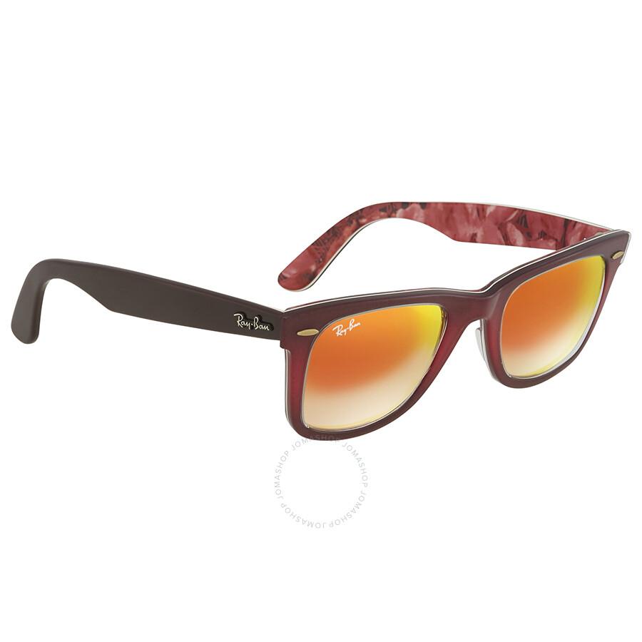 631e62792e4ce ... Ray Ban Original Wayfarer Floral Orange Gradient Flash Wayfarer  Sunglasses RB2140 12004W 50 ...