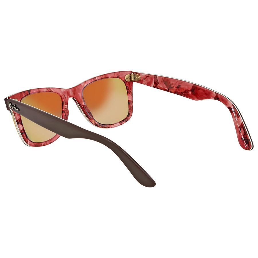 7b7c5db72 ... rare prints 1109 32 sunglasses 217c6 3eed6; get ray ban original  wayfarer floral orange gradient flash wayfarer sunglasses rb2140 12004w 50  7f5a4 897b4