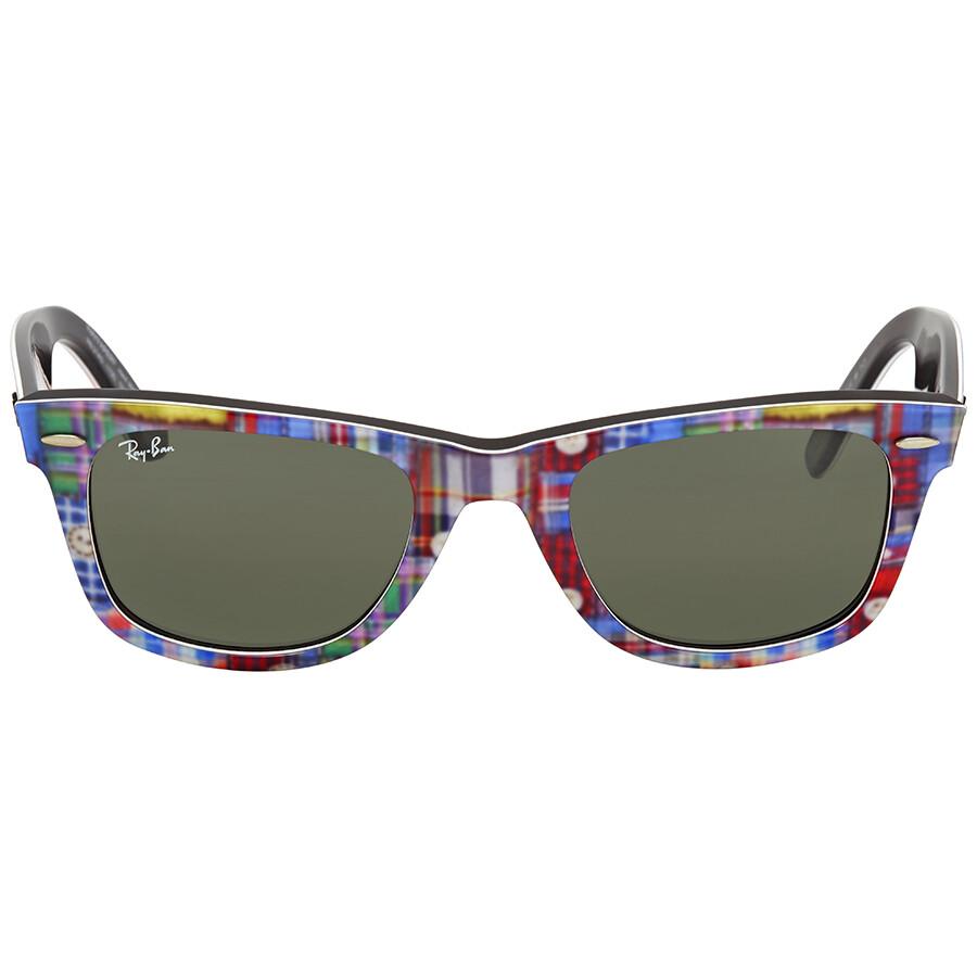 d53e1f8806 Ray Ban Original Wayfarer Green Classic G-15 Wayfarer Sunglasses RB2140  1135 50 ...
