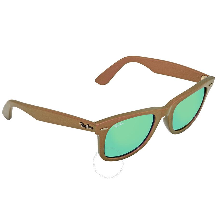 7787465613 Ray Ban Original Wayfarer Jupiter Cosmo Green Non-Polarized Lens Sunglasses  RB2140 611019 50- ...