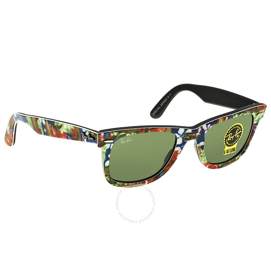 ray ban yellow frame  ray ban original wayfarer multi colored plastic frame 50mm sunglasses rb2140 50 1137