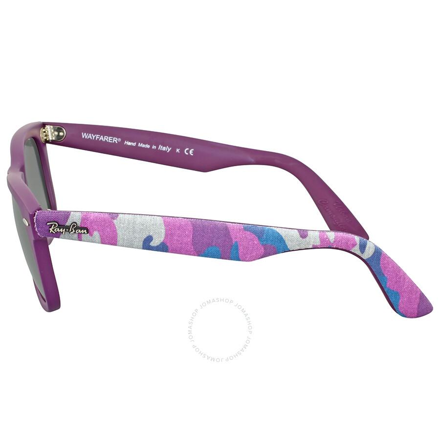 fa0a179928 Ray Ban Original Wayfarer Urban Violet Camouflage Sunglasses ...