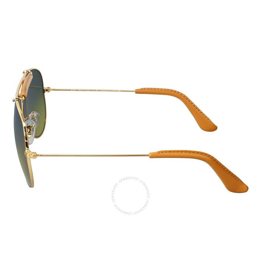 e030c6ff5c ... Ray-Ban Outdoorsman Craft Polarized Green Classic Sunglasses RB3422Q 001  M9 58 ...