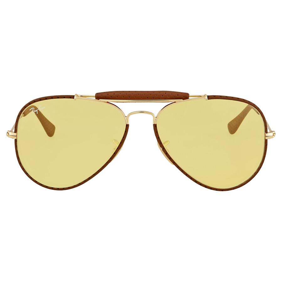 ff12cef465 Ray Ban Outdoorsman Yellow Ambermatic Men s Sunglasses RB3422Q 90424A 58 ...