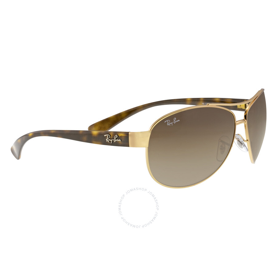 d7611b0bac ... Ray-Ban Active Lifestyle Brown Gradient Lens Sunglasses RB3386 001 13  63-13 ...