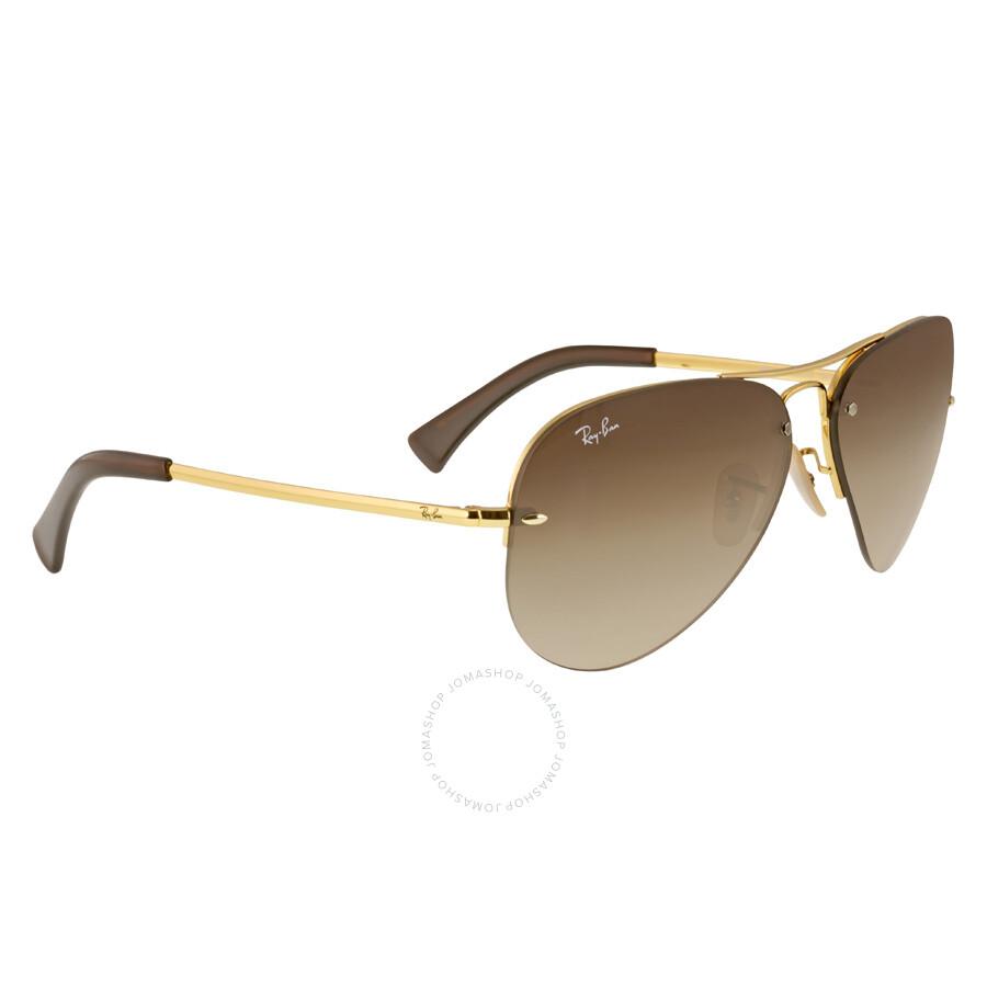 bd877b12e5 ... Ray-Ban Pilot Brown Gradient Lens Sunglasses RB3449-001-13-59 ...