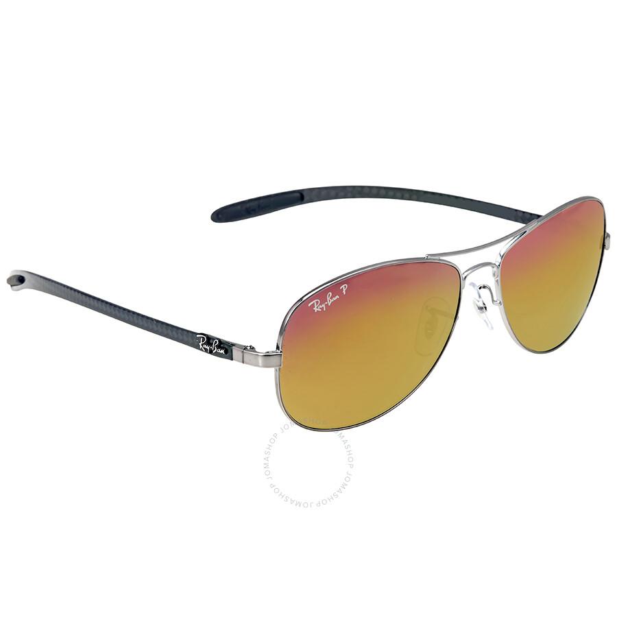 ray ban pilot polarized  Ray-Ban Pilot Polarized Gold Mirror Sunglasses - Sunglasses - Jomashop