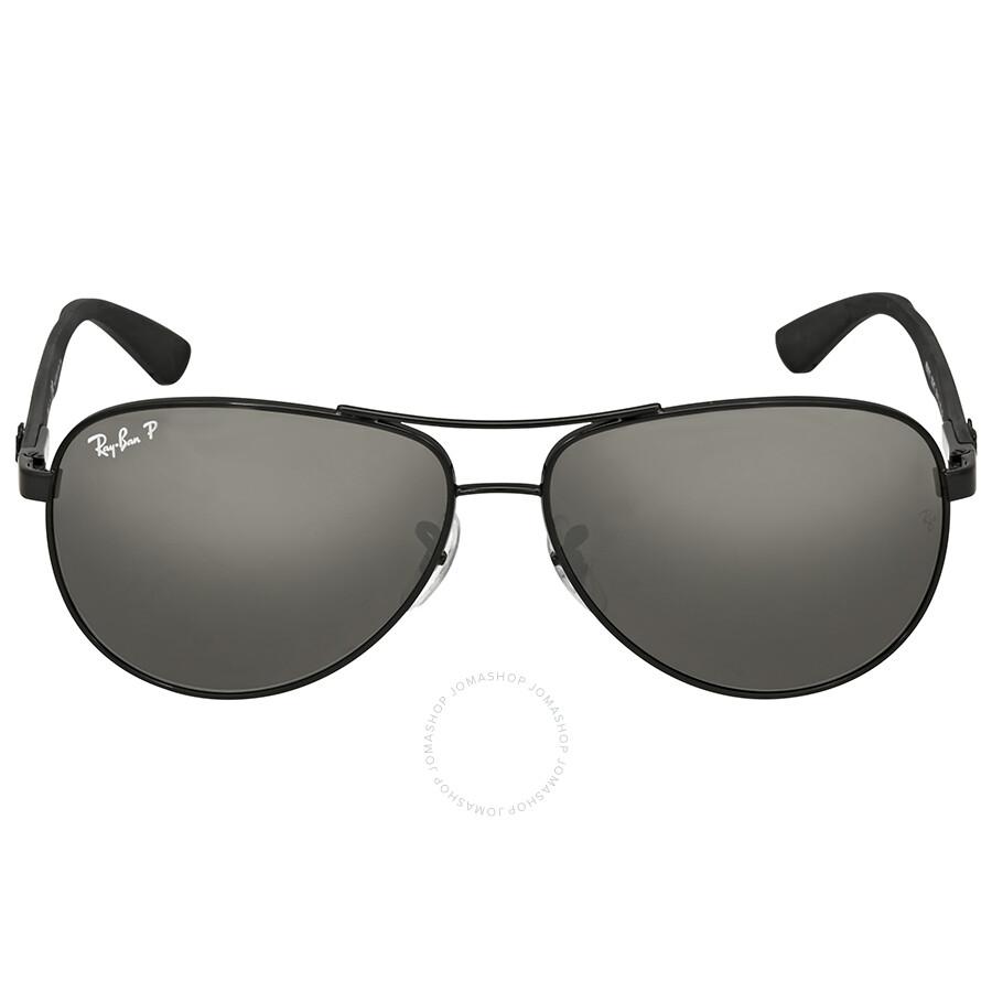 Ray Ban Pilot Polarized Grey Mirror Sunglasses