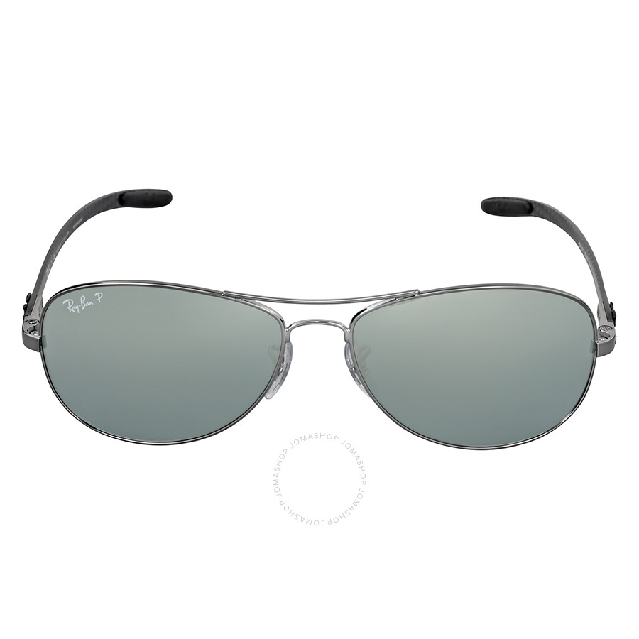 01a47d09070 Ray-Ban Pilot Polarized Silver Mirror Sunglasses RB8301 004 K6 59 ...
