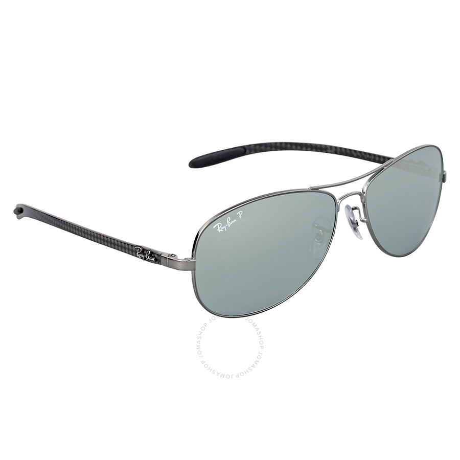 1e13a43d62a46a ... Ray-Ban Pilot Polarized Silver Mirror Sunglasses RB8301 004 K6 59 ...