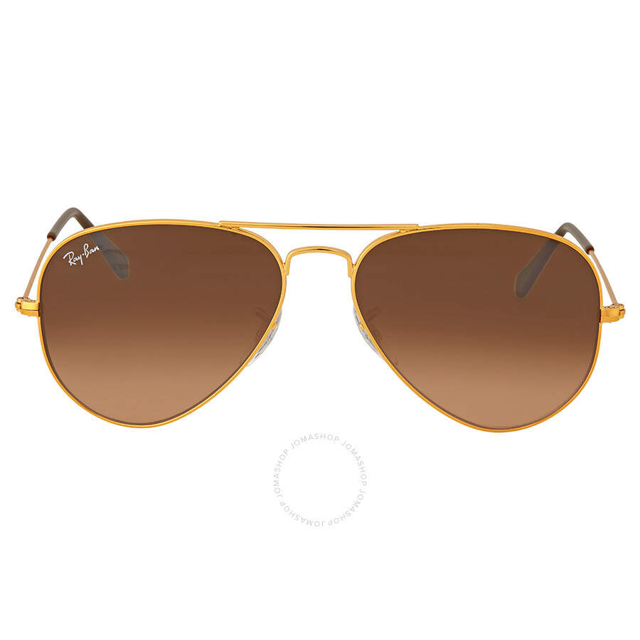 Ray Ban Aviator gradient Gold RB3025 9001A5 58 14 Medium