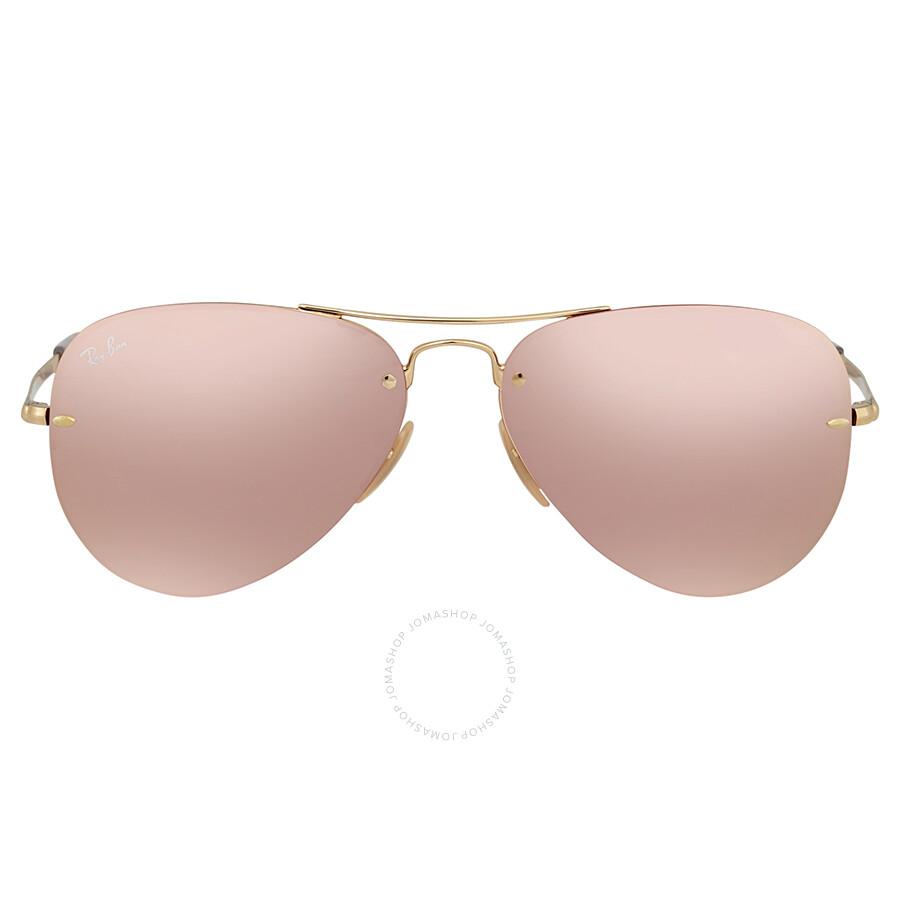 404e5ede8e Ray Ban Pink Mirror Aviator Sunglasses RB3449 001 E4 59 - Aviator ...