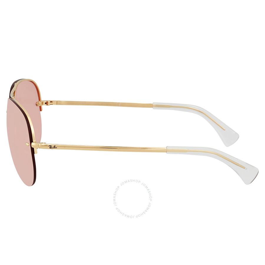 49d26a6d11 Ray Ban Pink Mirror Aviator Sunglasses RB3449 001 E4 59 - Aviator ...