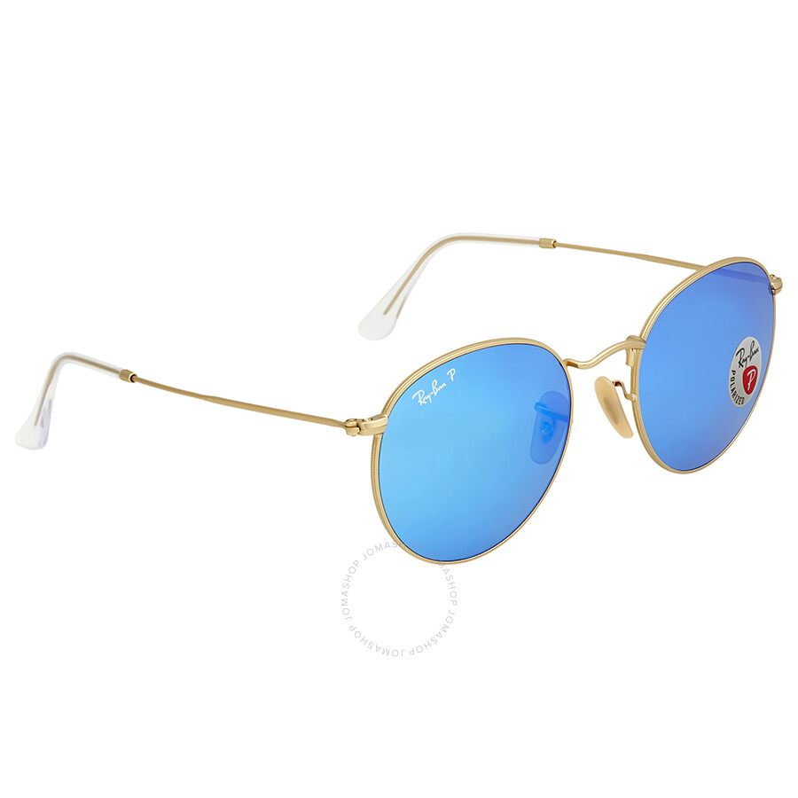 ea4abf1a7 ... Ray Ban Polarized Blue Flash Men's Sunglasses RB3447 112/4L 53 ...
