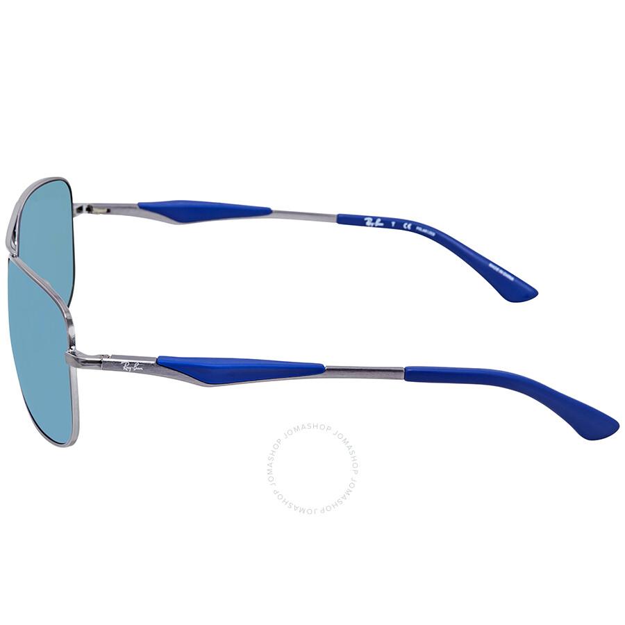 88134e2238 Ray Ban Polarized Blue Flash Square Sunglasses RB3515 004 9R 61 ...