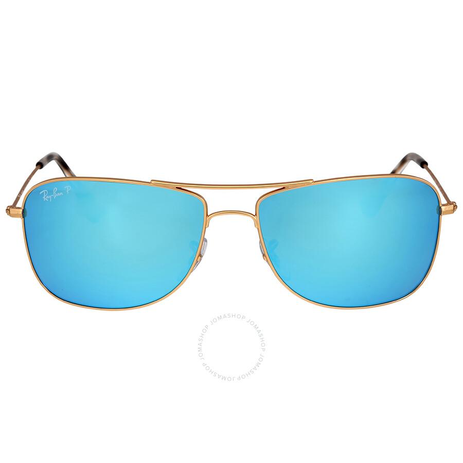 Ray ban polarized blue mirror sunglasses ray ban for Mirror sunglasses