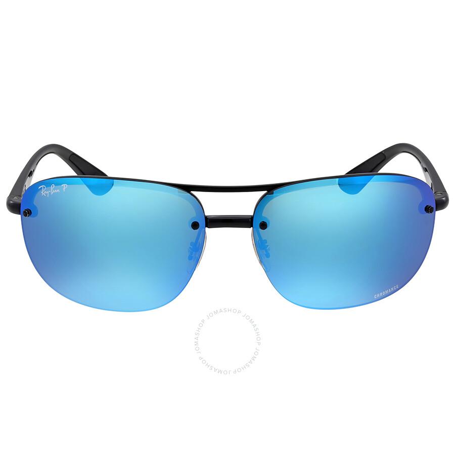 ray ban aviator polarized blue mirror