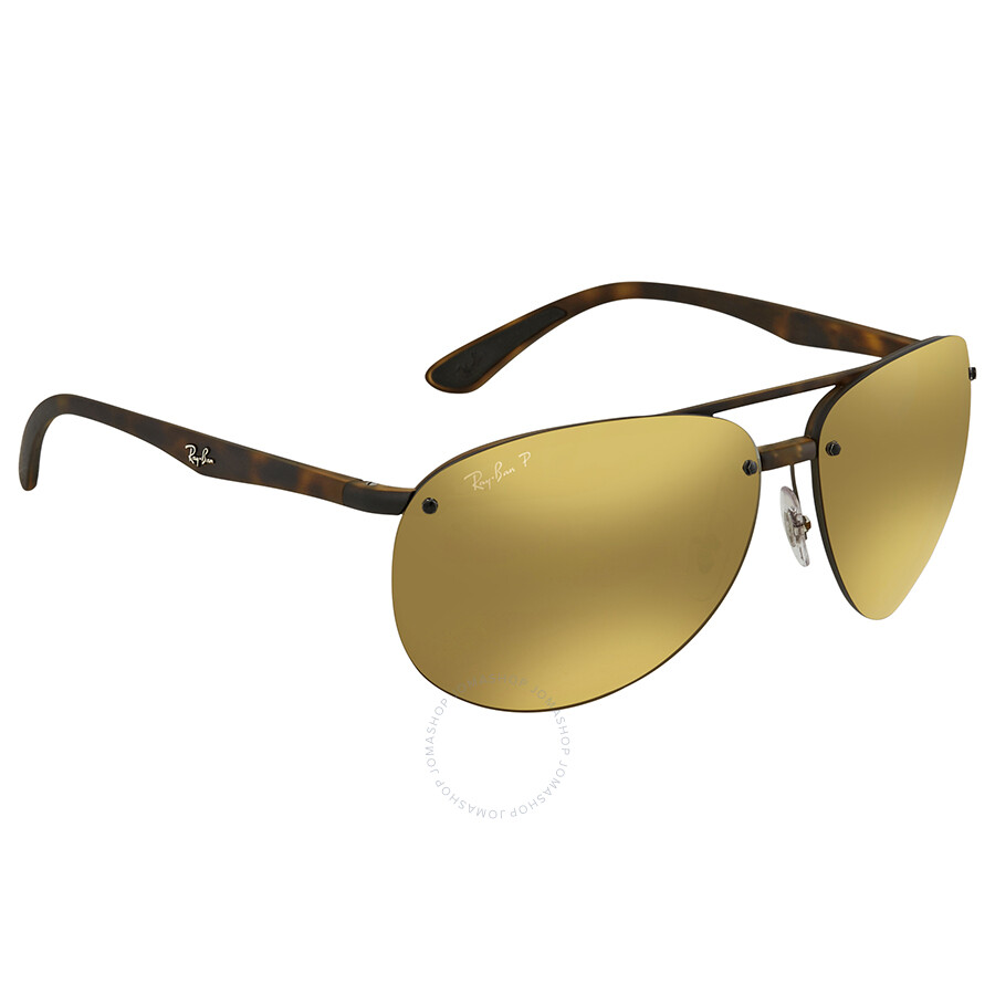 a6f180b16e Ray Ban Polarized Bronze Mirror Chromance Aviator Sunglasses RB4293CH 894 A3  64 ...