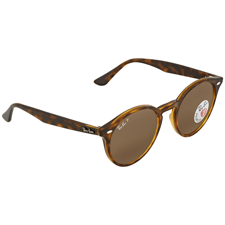 ace41343acb12 ... Ray Ban Polarized Brown Classic B-15 Round Sunglasses RB2180 710 83 49  ...