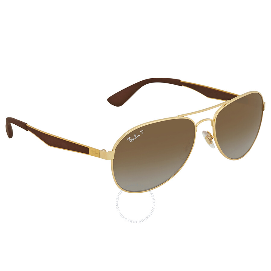 1941b6b9fbd Ray Ban Polarized Brown Gradient Aviator Sunglasses RB3549 001 T5 58 ...
