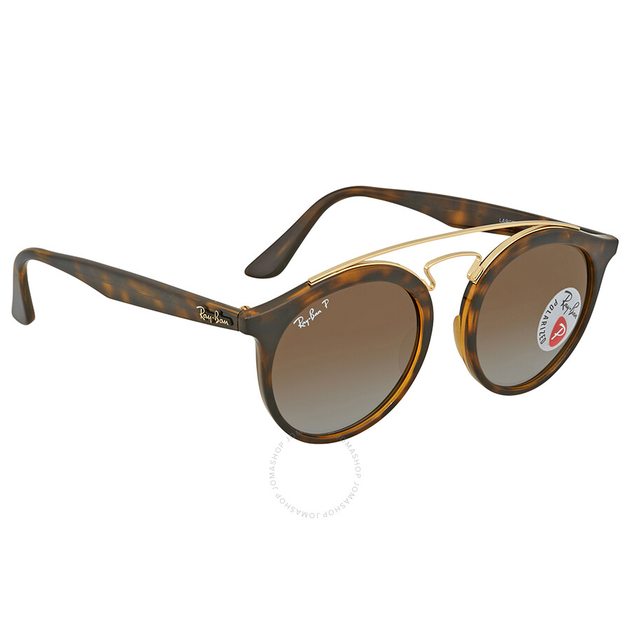 52269565b3 Ray Ban Polarized Brown Gradient Round Sunglasses RB4256 710 T5 49 ...