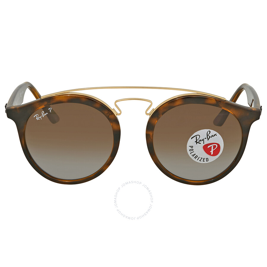 57c948872a ... Ray Ban Polarized Brown Gradient Round Sunglasses RB4256 710 T5 49 ...