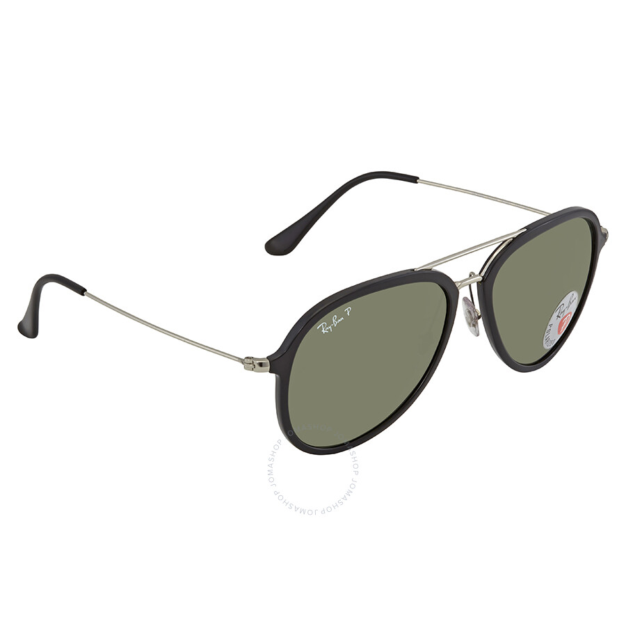 0a011cf16ed Ray Ban Polarized Green Classic G-15 Aviator Sunglasses RB4298 601 9A 57 ...