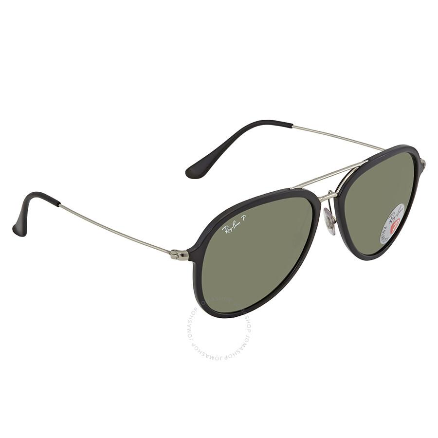 9ccf00b145 Ray Ban Polarized Green Classic G-15 Aviator Sunglasses RB4298 601 9A 57 ...