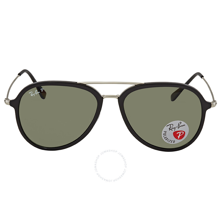 9cbd448f06 ... Ray Ban Polarized Green Classic G-15 Aviator Sunglasses RB4298 601 9A  57 ...